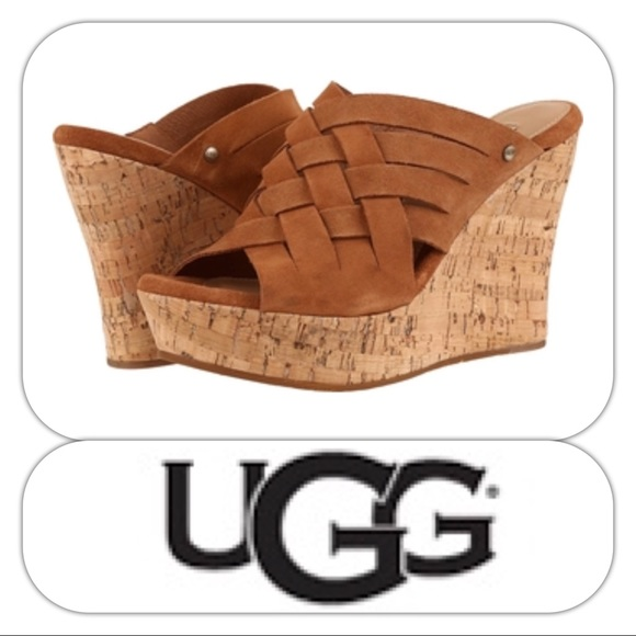 497bc13021a UGG Marta Weave Slip-on Wedge in Chestnut NWT